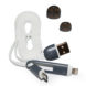 Cable usb doble blanco